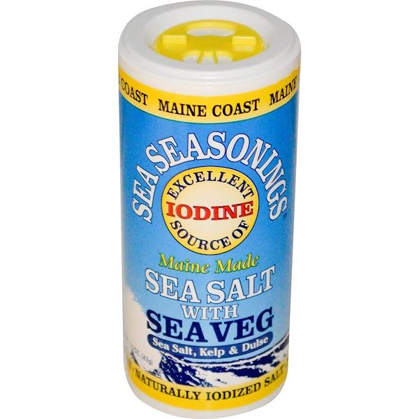 Maine Coast Sea Vegetables, Морские приправы, морская соль с морскими овощами, 1,5 унции (43 гр) (Discontinued Item)