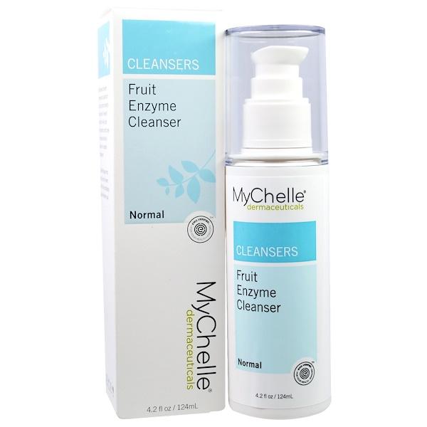 MyChelle Dermaceuticals, Очищающее средство с фруктовыми ферментами, для нормальной кожи, 4,2 жидкой унции (124 мл) (Discontinued Item)