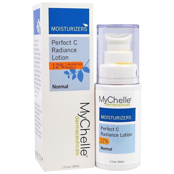 """MyChelle Dermaceuticals, """"Идеальное сияние C"""", лосьон с L-аскорбиновой кислотой, для нормальной кожи, 1 жидкая унция (30 мл) (Discontinued Item)"""