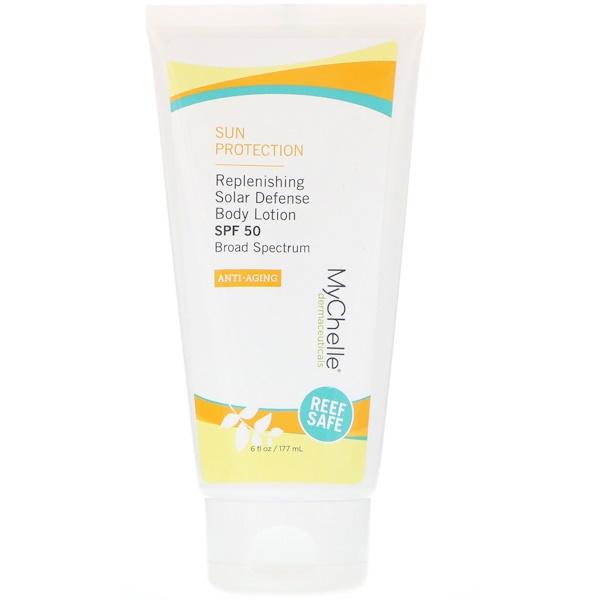 MyChelle Dermaceuticals, Восстанавливающий лосьон для тела «Защита от солнца», фактор защиты SPF 50, противовозрастной, 177 мл (Discontinued Item)
