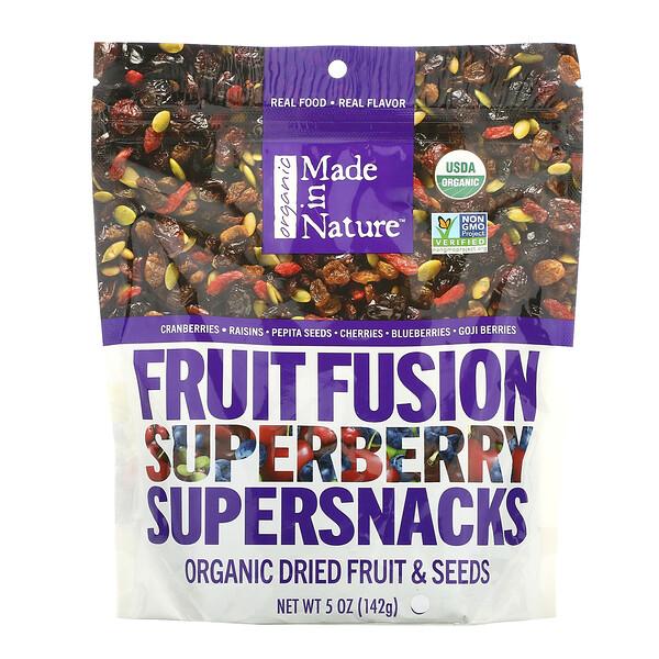 Органический фруктовый Fusion Superberry Blast Supersnacks, 5 унций (142 г)