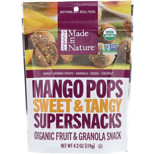 Кусочки органического манго, сладкий и пряный суперснек, 4,2 унц. (119 г)