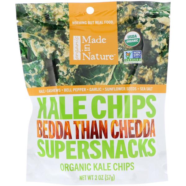 Made in Nature, Органические чипсы из кудрявой капусты, Bedda Than Chedda, 2 унции (57г) (Discontinued Item)