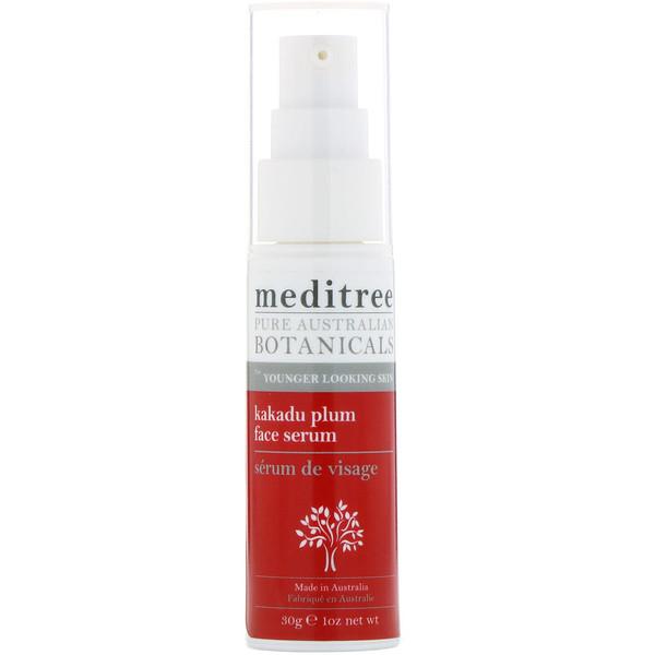 Meditree, Чистая австралийская слива какаду, сыворотка для омолаживания кожи лица, 1 унц. (30 г)