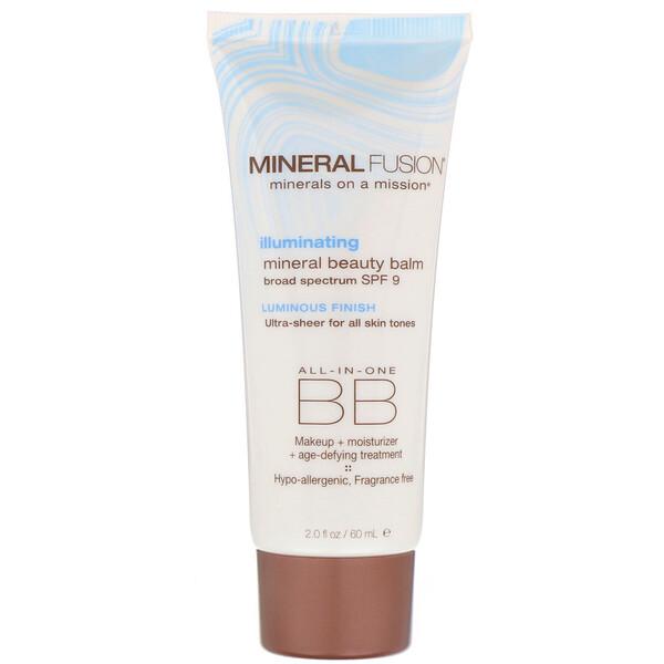 Mineral Fusion, Mineral Beauty Balm, SPF 9, Illuminating, 2.0 oz (60 ml) (Discontinued Item)
