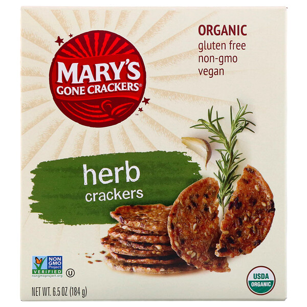 Mary's Gone Crackers, Органические крекеры с травами, 6,5 унции (184 г)