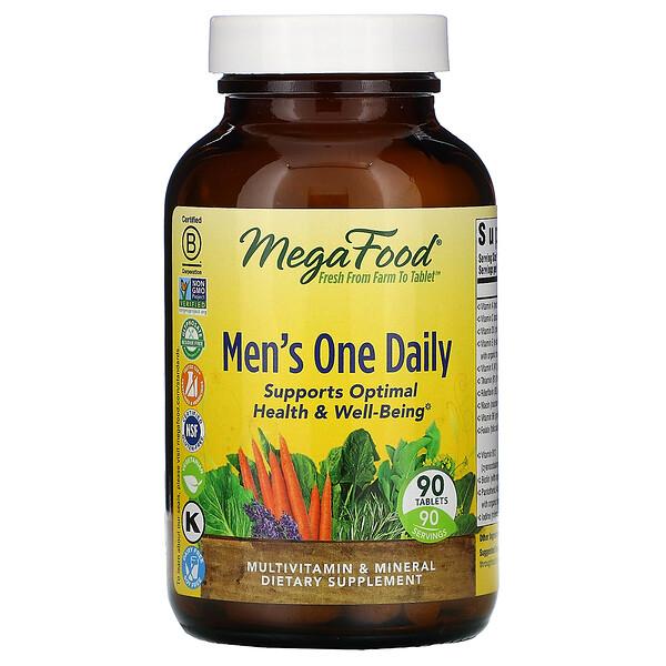 Men's One Daily, витамины для мужчин, без железа, 90таблеток