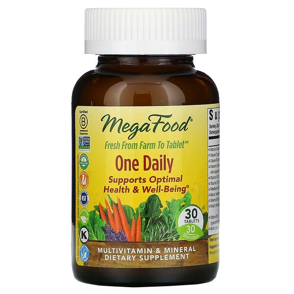 MegaFood, One Daily, 30таблеток