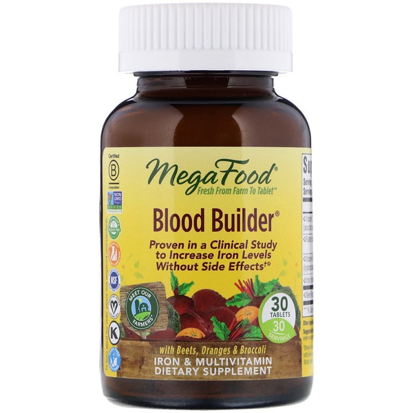 MegaFood, Blood Builder, 30 таблеток