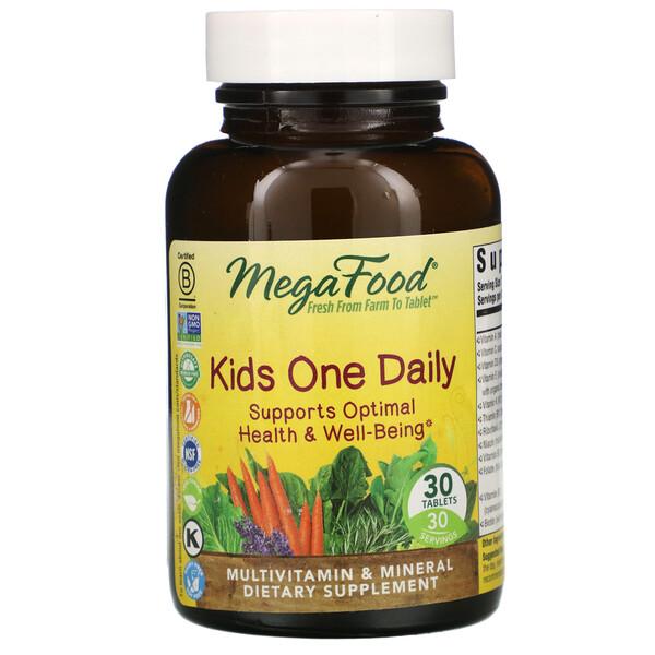 MegaFood, One Daily, для детей, 30таблеток