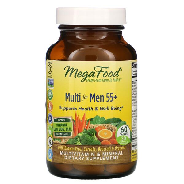 Multi for Men 55+, мультивитамины для мужчин старше 55лет, 60таблеток