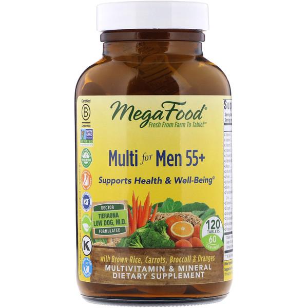 мультивитамины для мужчин в возрасте от 55 лет, 120 таблеток