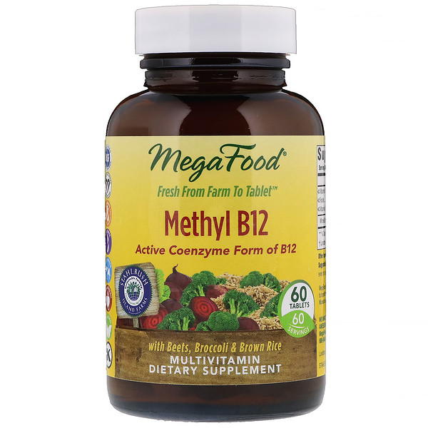 MegaFood, Метилкобаламин B12, 60 таблеток (Discontinued Item)