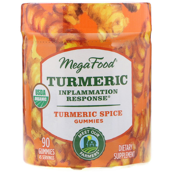Turmeric, Inflammation Response, Turmeric Spice, 90 Gummies
