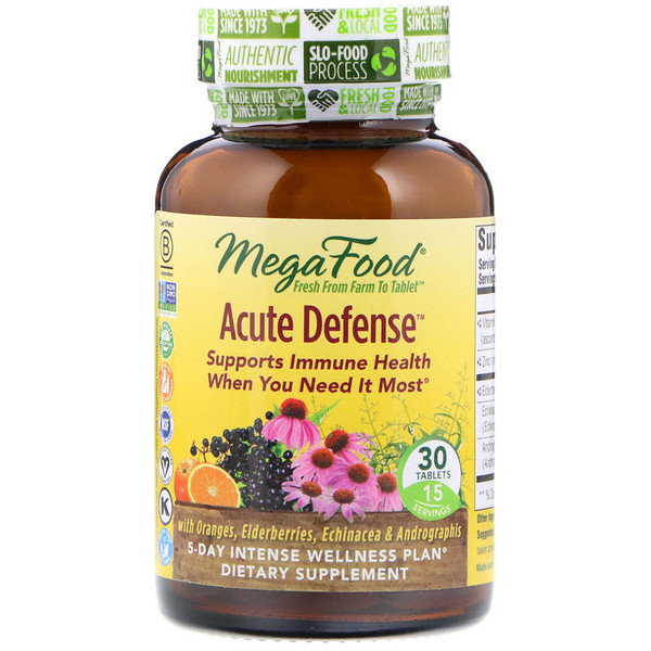 MegaFood, Acute Defense, 30 таблеток (Discontinued Item)