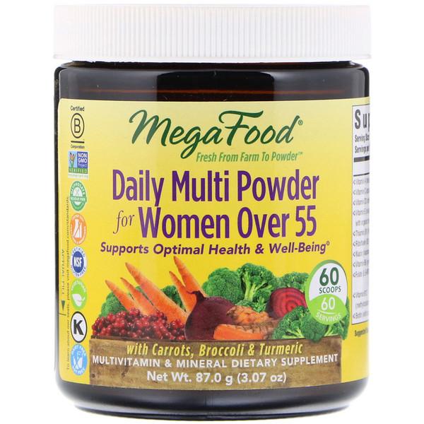 MegaFood, Ежедневный мультивитаминный порошок для женщин старше 55, 3,07 унц. (87,0 г) (Discontinued Item)
