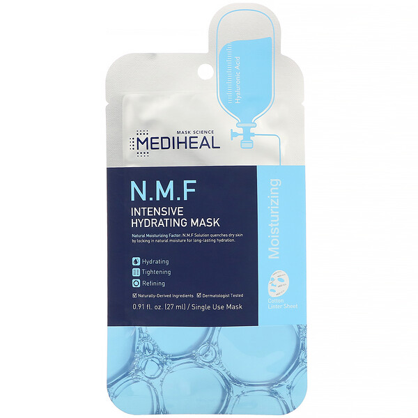 N.M.F Intensive Hydrating Mask, 1 Sheet, 0.91 fl. oz (27 ml)