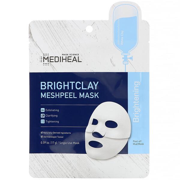 Mediheal, Brightclay, Meshpeel Mask, 1 Sheet, 0.59 oz. (17 g)