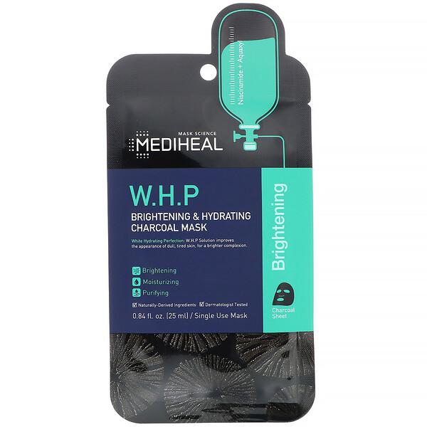 W.H.P, угольная маска, увлажнение и улучшение тона кожи, 5шт.