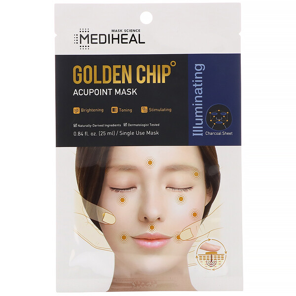 Golden Chip, акупунктурная маска, 5шт., 25мл каждая