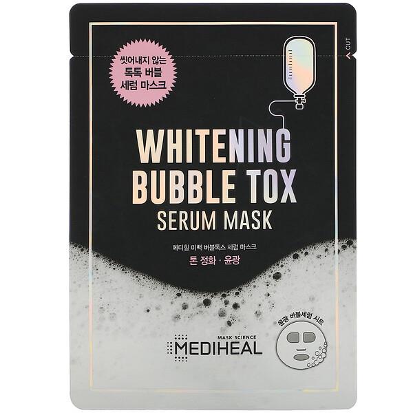 Mediheal, Whitening Bubble Tox Serum Mask, 1 Sheet, 21 ml