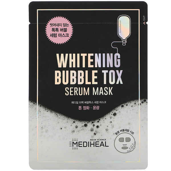Whitening Bubble Tox Serum Mask, 10 Sheets, 21 ml Each