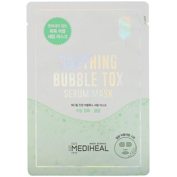 Soothing Bubble Tox Serum Mask,  1 Sheet, 18 ml