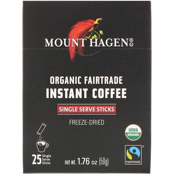 Органический растворимый кофе, закупленный по принципам справедливой торговли, 25 порционных пакетиков-стиков, 1,76 унц. (50 г)