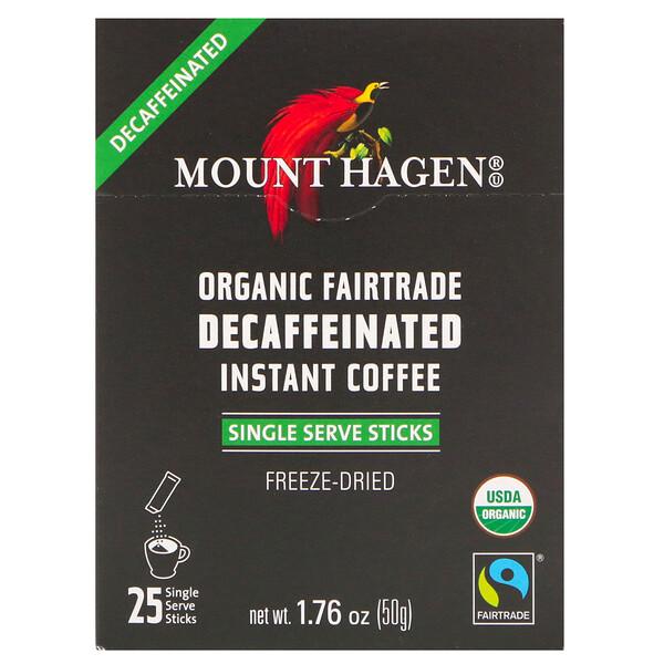 Органический растворимый кофе без кофеина, закупленный по принципам справедливой торговли, 25 порционных пакетиков-стиков, 50 г