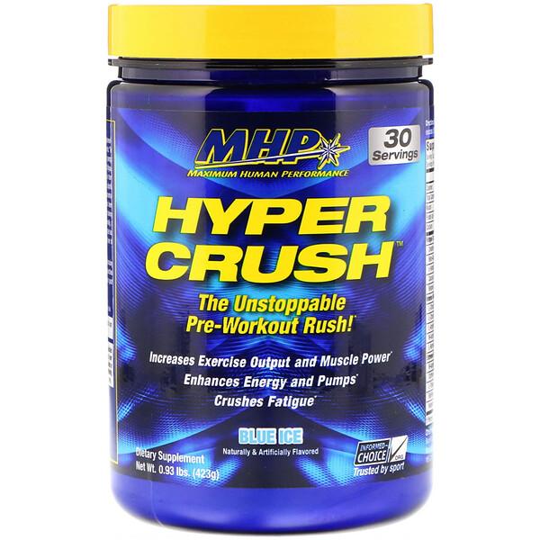 Hyper Crush, предтренировочный стимулятор, синий лед, 0,93 ф. (423 г)