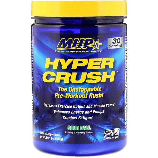 Hyper Crush, Предтренировочная формула, Кислятина, 1,02 фунта (461 г)