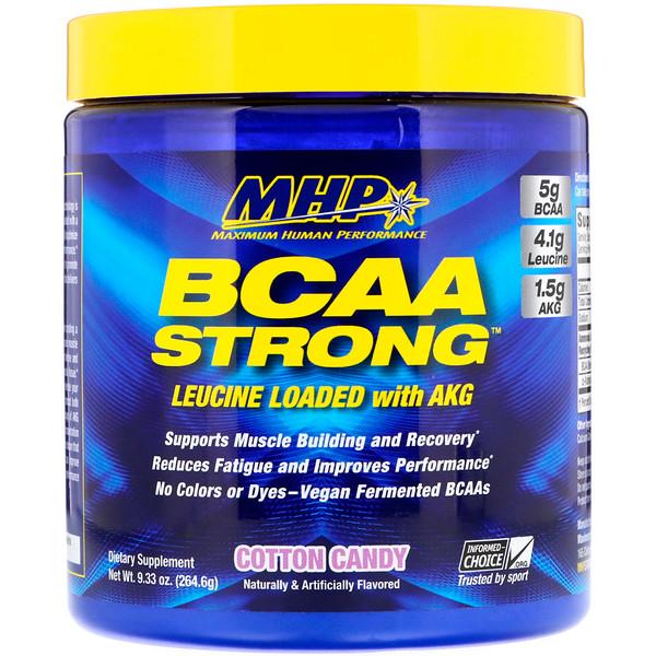 MHP, BCAA Strong, Сладкая вата, 9,33 унц. (264,6 г) (Discontinued Item)