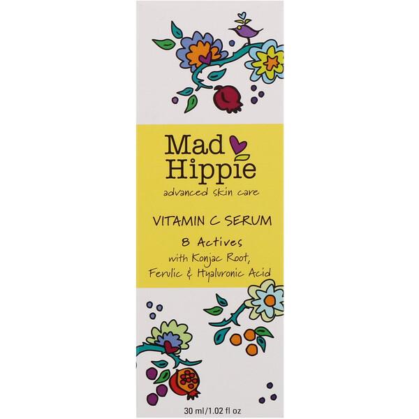 Mad Hippie Skin Care Products, Сыворотка с витаминомС, 8активных ингредиентов, 30мл