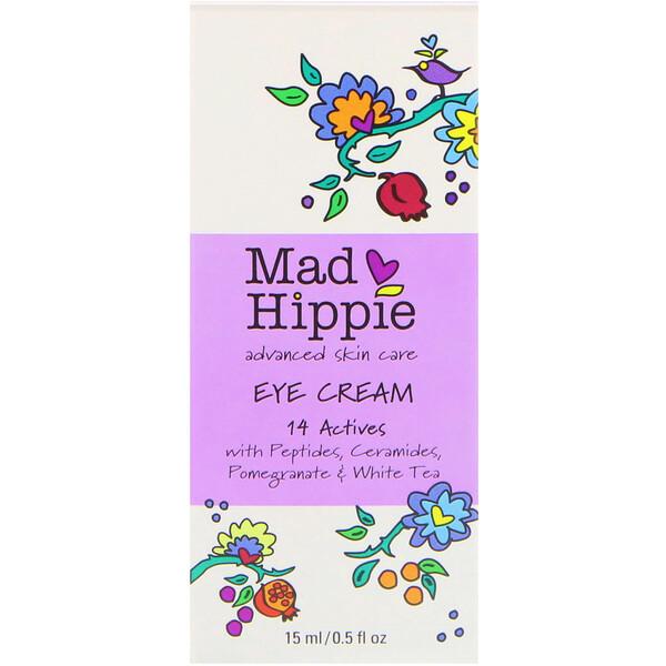 Mad Hippie Skin Care Products, Крем вокруг глаз, 13 активных компонентов, 0,5 жидкой унции (15 мл)