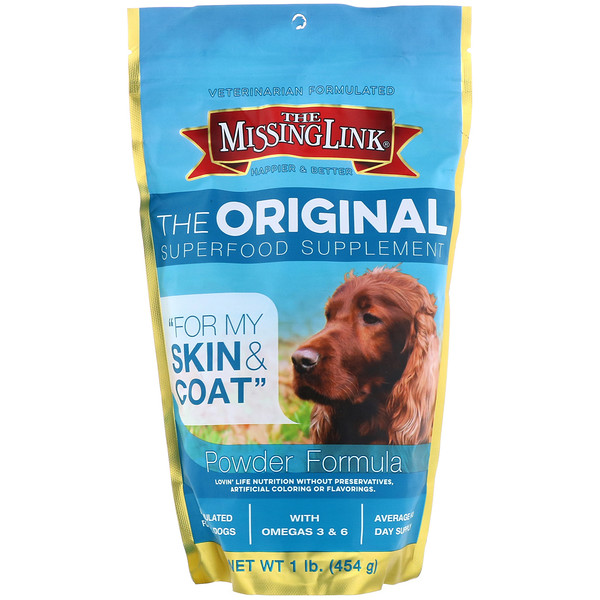 The Missing Link, The Original Superfood Supplement, Powder Formula, For Dogs, 1 lb (454 g) (Discontinued Item)
