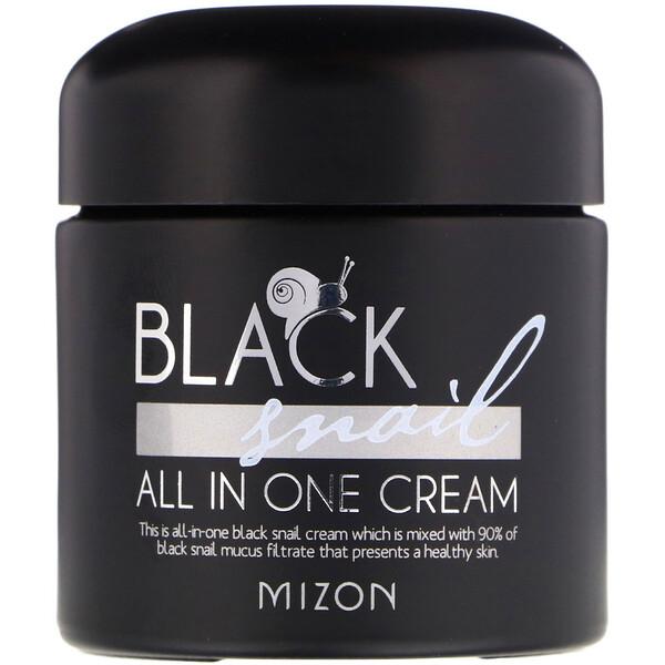 Mizon, Черная улитка, крем «все в одном», 2,53 унции (75 мл)
