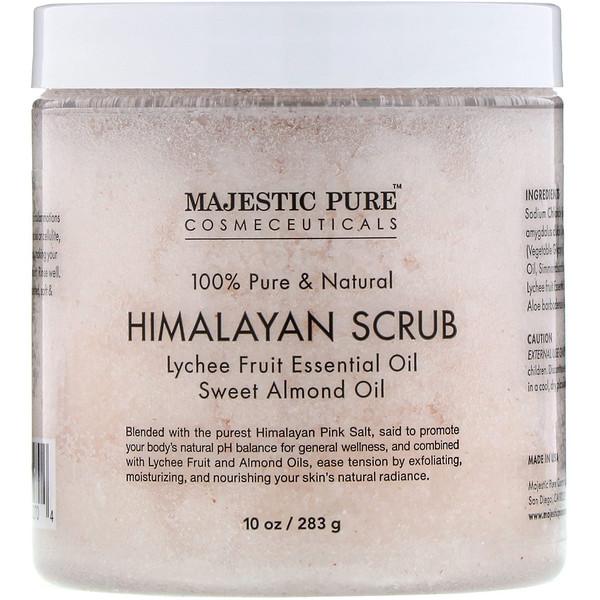Majestic Pure, На 100% чистый и натуральный продукт, гималайский скраб, 283г (Discontinued Item)