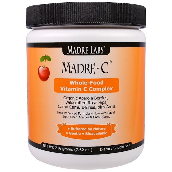 Madre Labs, Madre-C, комплекс цельнопищевого витамина C, 7,62 унции (216 г) (Discontinued Item)