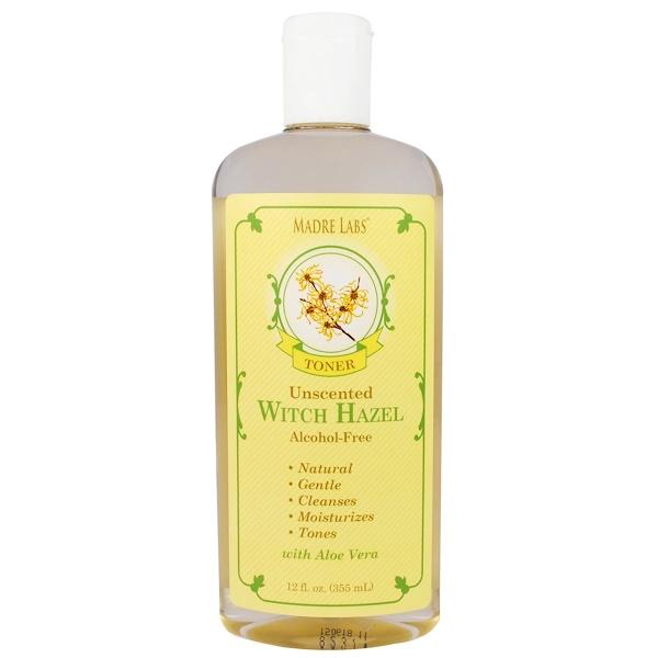 Madre Labs, Тонер из лещины виргинской, увлажняющий, на растительной основе, без запаха, без спирта, 12 жидких унций (355 мл) (Discontinued Item)