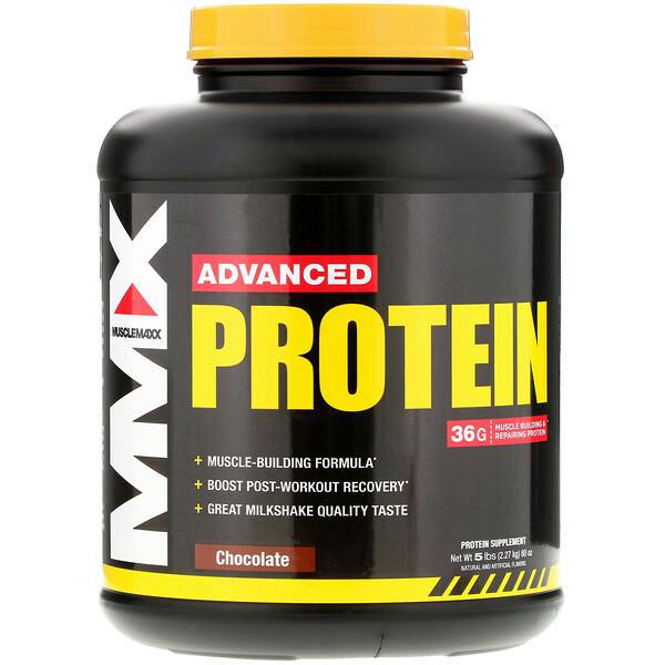 MuscleMaxx, Улучшенный протеин, шоколад, 2,27кг (5фунтов)