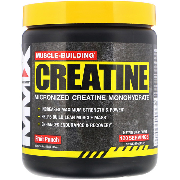 Muscle-Building Creatine, Fruit Punch, 9.3 oz (264 g)