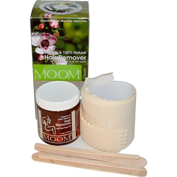 Органический депиляторий, с маслом чайного дерева, классика, 6 унций (170 г)