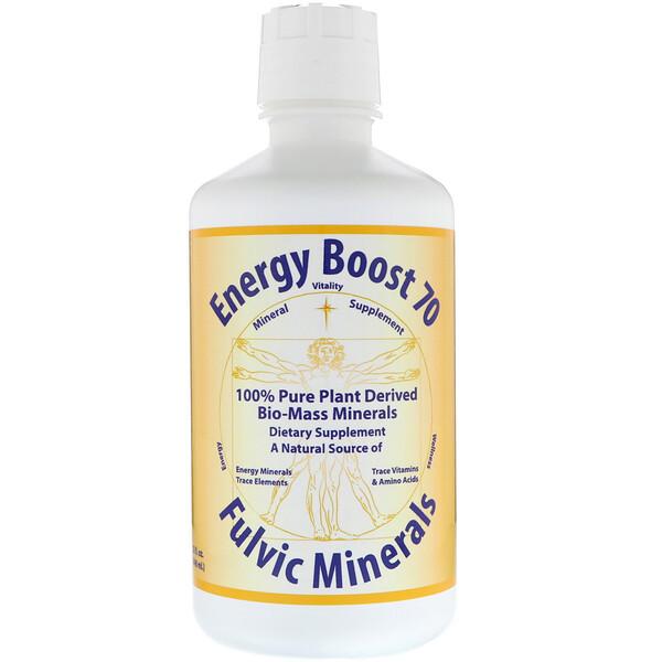 Energy Boost 70, фульвое минералы, 32 жидких унции (946 мл)