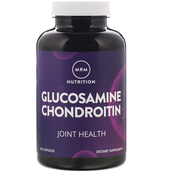 Nutrition, глюкозамин хондроитин, 180капсул