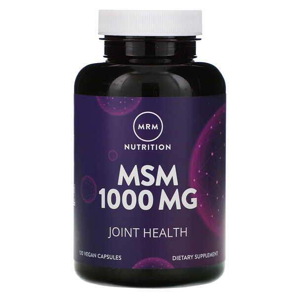 Nutrition, MSM, 1,000 mg, 120 Vegan Capsules