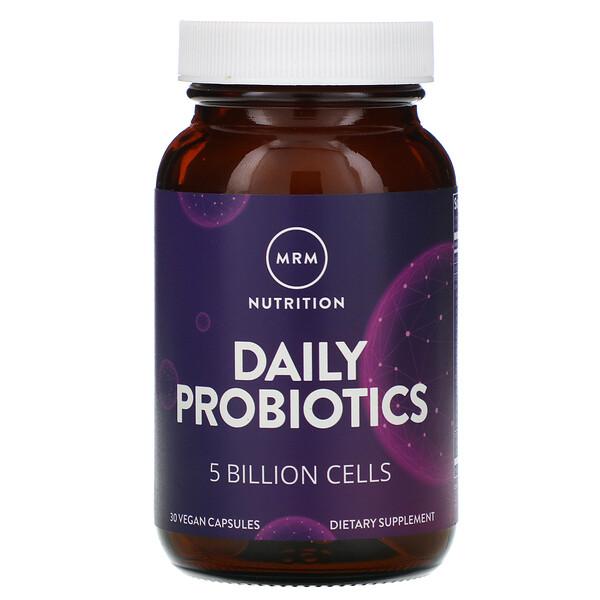 Nutrition, Daily Probiotics, 5 Billion Cells, 30 Vegan Capsules