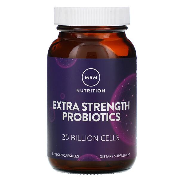 Nutrition, Extra Strength Probiotics, 25 Billion Cells, 30 Vegan Capsules