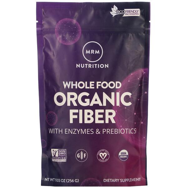Цельнопищевой продукт, органическая клетчатка с ферментами и пребиотиками, 256 г (9,3 унции)