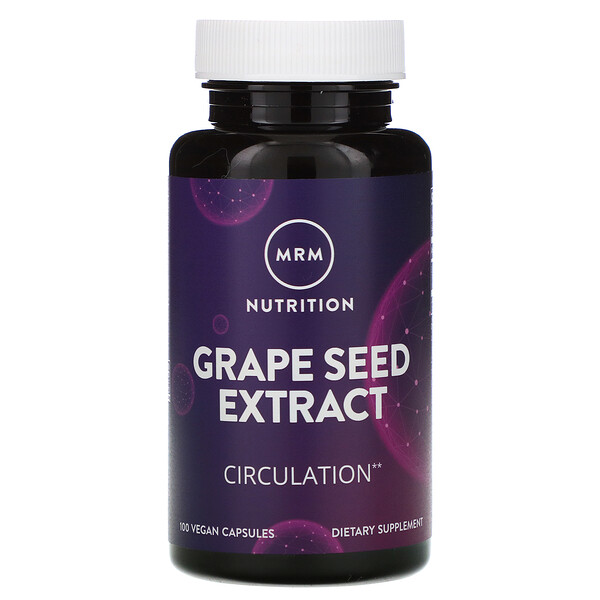 Nutrition, Grape Seed Extract, 100 Vegan Capsules