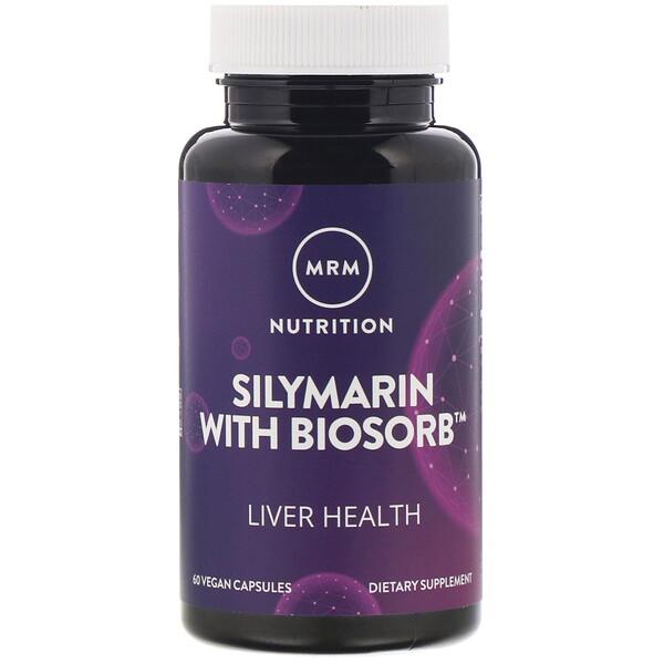 Nutrition, Силимарин с агентом Biosorb, 60 растительных капсул